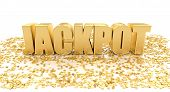 image of pop star  - Jackpot with stars on white background  - JPG