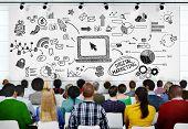 image of seminars  - People Seminar Conference Digital Marketing Strategy Concept - JPG