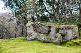 pic of underworld  - Statue representing the mythical figure of Fury a demon of the underworld in the popular primitive beliefs - JPG