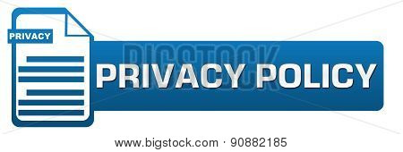 Постер, плакат: Privacy Policy File Icon Horizontal, холст на подрамнике