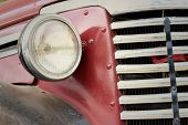 foto of headlight  - The headlights of a car on the street - JPG