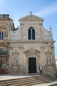 picture of city hall  - Church of San Francesco de Asisi next to the City Hall in the medieval town Ostuni in Puglia South Italy - JPG