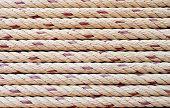 foto of nautical equipment  - nautical rope stripes background texture detail vertical - JPG