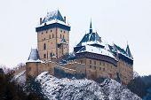 stock photo of winter palace  - Castle Karlstejn in Czech Republic - JPG