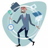 picture of juggler  - African businessman time management concept juggler - JPG