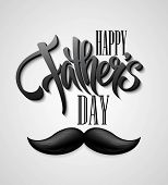 stock photo of mustache  - Happy Fathers Day mustache card - JPG