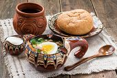 foto of stein  - Russian cold spring tonic soup  - JPG