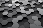 picture of fi  - Abstract 3d rendering of futuristic surface with hexagons - JPG