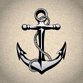 picture of nautical equipment  - Anchor icon isolated nautical heavy iron symbol art - JPG