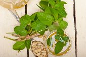picture of pine nut  - Arab traditional style mint and pine nuts tea called at tay  - JPG