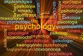stock photo of psychological  - Background concept wordcloud multilanguage international many language illustration of psychology glowing light - JPG