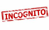 image of incognito  - Rubber stamp with word incognito inside vector illustration - JPG