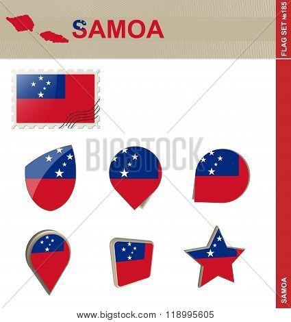 Samoa Flag Set Flag Set