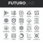 Data Science Futuro Line Icons Set poster