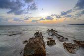 Seascape sunset poster