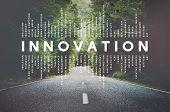 Innovation Innovate Invention Development Design Concept poster