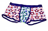 stock photo of boxer briefs  - patterned boxer briefs on a white background - JPG