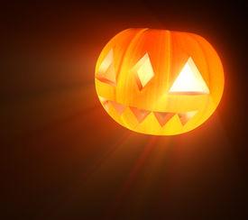 stock photo of jack-o-laterns-jack-o-latern  - Halloween pumpkin - jack-o-lantern on black background.  - JPG