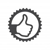 Thumb Up Icon Isolated On White Background. Thumb Up Icon In Trendy Design Style For Web Site And Mo poster