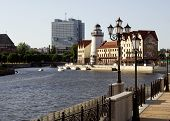 Embankment View In Kaliningrad City Russia