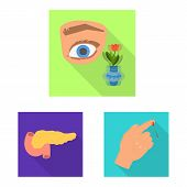 Isolated Object Of Symptom And Disease Icon. Collection Of Symptom And Treatment Vector Icon For Sto poster