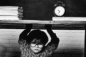 School Bullying. Boy Student Getting Bullied In School. Educational Process poster