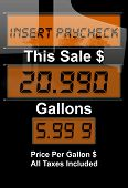 image of high-octane  - Concept image with gas nozzle digital sales amounts - JPG