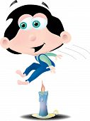 foto of nursery rhyme  - Jack be nimble and be quick he jumps over the candle stick - JPG