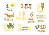 Numbers And Counting Practice Printable Poster, Worksheet For Pre School, Kindergarten Kids. Colorfu poster