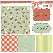 picture of shabby chic  - Vintage Rose Pattern - JPG