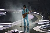 MIAMI - FEB 4: Prince performs during half-time for Super Bowl XLI between the Chicago Bears and the