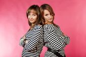 picture of friendship belt  - Two sailor girls in a striped vest - JPG