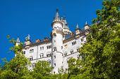 Neuschwanstein Castle Near Fussen, Bavaria, Germany. It Is A Famous Landmark Of German Alps. Beautif poster