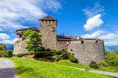 Vaduz Castle In Liechtenstein. This Royal Castle Is A Landmark Of Liechtenstein And Switzerland. Sce poster
