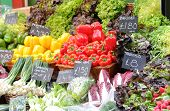 Vegetable Display At Borough Market In London Uk poster
