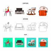 Vector Design Of Comfort And Equipment Icon. Collection Of Comfort And Furniture Stock Vector Illust poster