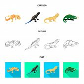Vector Illustration Of Tail And Fauna Logo. Set Of Tail And Environment Stock Symbol For Web. poster