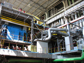 foto of electrical engineering  - Electric power generator at a power plant - JPG