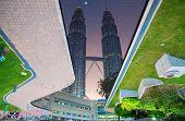 stock photo of petronas twin towers  - KUALA LUMPUR  - JPG