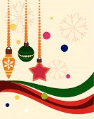 picture of christmas cards  - Abstract christmas background with ornaments - JPG