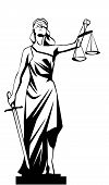 stock photo of judiciary  - isolated White lady justice  - JPG