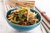 picture of glass noodles  - stir fried noodles with vegetables - JPG