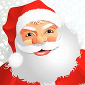 pic of santa claus hat  - A fully scalable vector illustration of Santa Claus with snow - JPG