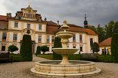 foto of rep  - Fountain in castle garden in Czech rep - JPG