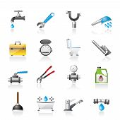 pic of stopcock  - realistic plumbing objects and tools icons  - JPG