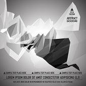 pic of triangular pyramids  - Grayscale triangular abstract background - JPG