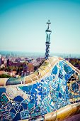 Park Guell designed by Antonio Gaudi in Barcelona Spain In Barcelona, Spain.