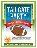 Futebol americano Tailgate Party Flyer Design