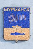 picture of murmansk  - Coat of arms of symbol city Murmansk - JPG