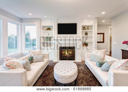 Living/Family Room in New Home poster